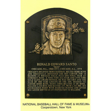 Ron Santo Baseball Hall of Fame Plaque Postcard