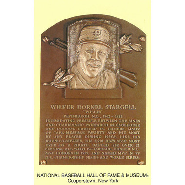 Willie Stargell Baseball Hall of Fame Plaque Postcard