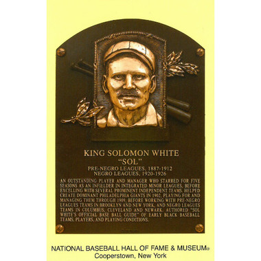 Sol White Baseball Hall of Fame Plaque Postcard