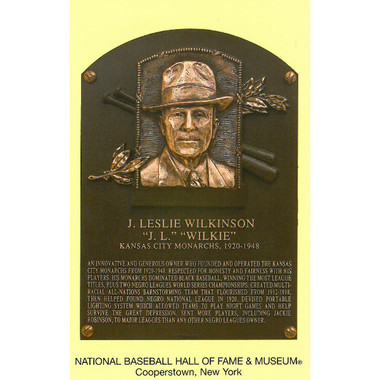 J.L. Wilkinson Baseball Hall of Fame Plaque Postcard