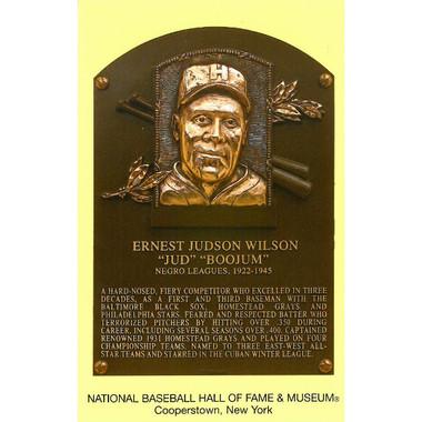 Jud Wilson Baseball Hall of Fame Plaque Postcard