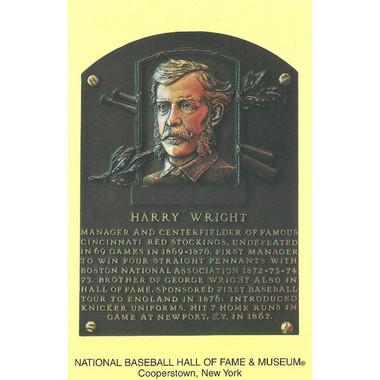 Harry Wright Baseball Hall of Fame Plaque Postcard