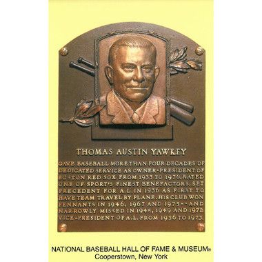 Thomas Yawkey Baseball Hall of Fame Plaque Postcard
