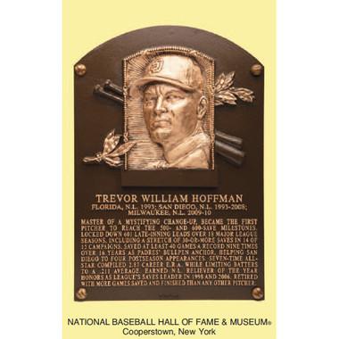 Trevor Hoffman Baseball Hall of Fame Plaque Postcard