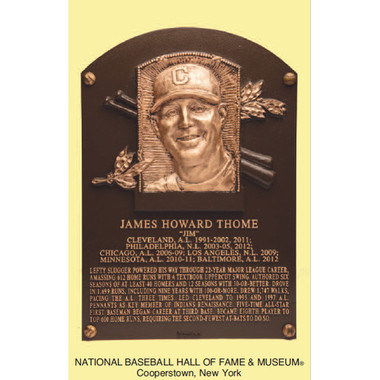 Jim Thome Baseball Hall of Fame Plaque Postcard