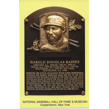 Harold Baines Baseball Hall of Fame Plaque Postcard
