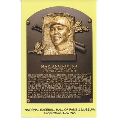 Mariano Rivera Baseball Hall of Fame Plaque Postcard