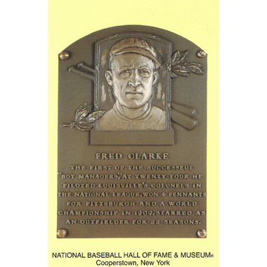 Fred Clarke Baseball Hall of Fame Plaque Postcard