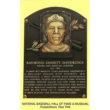 Ray Dandridge Baseball Hall of Fame Plaque Postcard