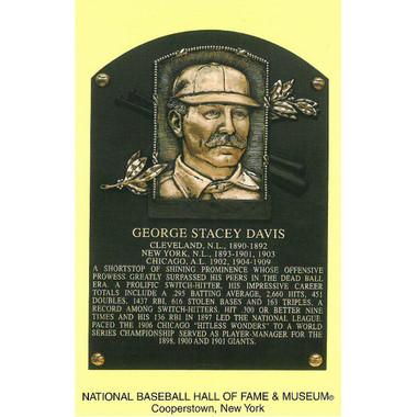 George Davis Baseball Hall of Fame Plaque Postcard