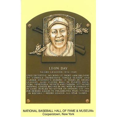 Leon Day Baseball Hall of Fame Plaque Postcard