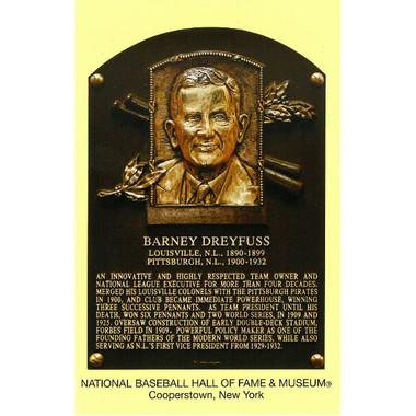 Barney Dreyfuss Baseball Hall of Fame Plaque Postcard