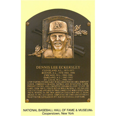 Dennis Eckersley Baseball Hall of Fame Plaque Postcard