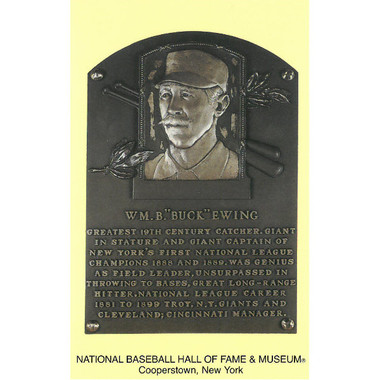 Buck Ewing Baseball Hall of Fame Plaque Postcard
