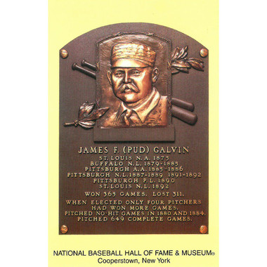 Pud Galvin Baseball Hall of Fame Plaque Postcard