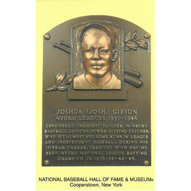 Josh Gibson Baseball Hall of Fame Plaque Postcard