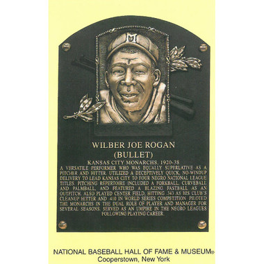 Bullet Joe Rogan Baseball Hall of Fame Plaque Postcard