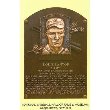 Louis Santop Baseball Hall of Fame Plaque Postcard