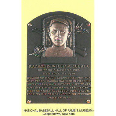 Ray Schalk Baseball Hall of Fame Plaque Postcard