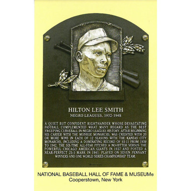 Hilton Smith Baseball Hall of Fame Plaque Postcard