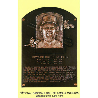 Bruce Sutter Baseball Hall of Fame Plaque Postcard