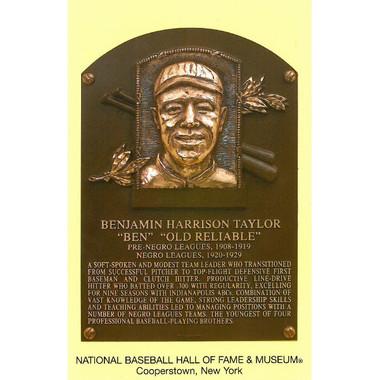 Ben Taylor Baseball Hall of Fame Plaque Postcard
