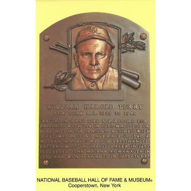 Bill Terry Baseball Hall of Fame Plaque Postcard