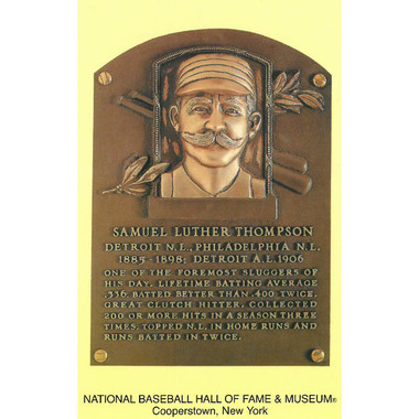 Sam Thompson Baseball Hall of Fame Plaque Postcard