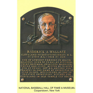 Bobby Wallace Baseball Hall of Fame Plaque Postcard