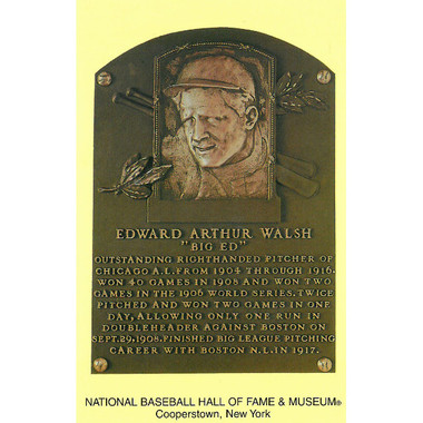 Ed Walsh Baseball Hall of Fame Plaque Postcard