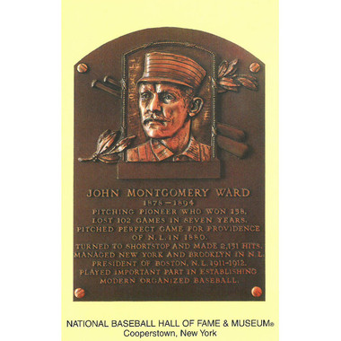 John Montgomery Ward Baseball Hall of Fame Plaque Postcard