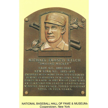 Mickey Welch Baseball Hall of Fame Plaque Postcard