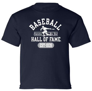 Youth Boys Baseball Hall of Fame Navy State Champ T-Shirt