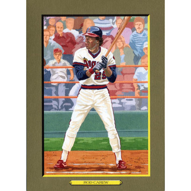 Rod Carew Perez-Steele Hall of Fame Great Moments Limited Edition Jumbo Postcard # 77