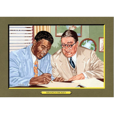 Branch Rickey and Jackie Robinson Perez-Steele Hall of Fame Great Moments Limited Edition Jumbo Postcard # 84