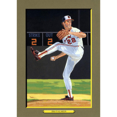 Jim Palmer Perez-Steele Hall of Fame Great Moments Limited Edition Jumbo Postcard # 85