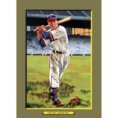 Richie Ashburn Perez-Steele Hall of Fame Great Moments Limited Edition Jumbo Postcard # 98