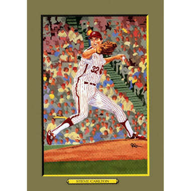 Steve Carlton Perez-Steele Hall of Fame Great Moments Limited Edition Jumbo Postcard # 99