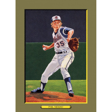 Phil Niekro Perez-Steele Hall of Fame Great Moments Limited Edition Jumbo Postcard # 105