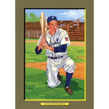 Hank Greenberg Perez-Steele Hall of Fame Great Moments Limited Edition Jumbo Postcard # 88