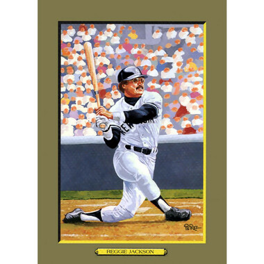 Reggie Jackson Perez-Steele Hall of Fame Great Moments Limited Edition Jumbo Postcard # 104