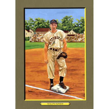 Ralph Kiner Perez-Steele Hall of Fame Great Moments Limited Edition Jumbo Postcard # 75