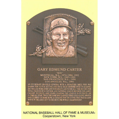 Gary Carter Baseball Hall of Fame Plaque Postcard