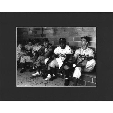 Matted 8x10 Photo- Brooklyn Dodgers During the 1951 HOF Game