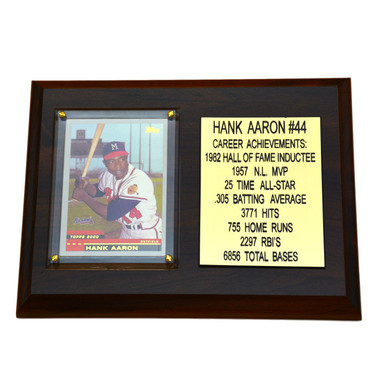 "Hank Aaron Atlanta Braves 8"" x 6"" Baseball Card Deluxe Plaque"