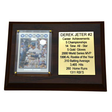 "Derek Jeter New York Yankees  8"" x 6"" Baseball Card Deluxe Plaque"