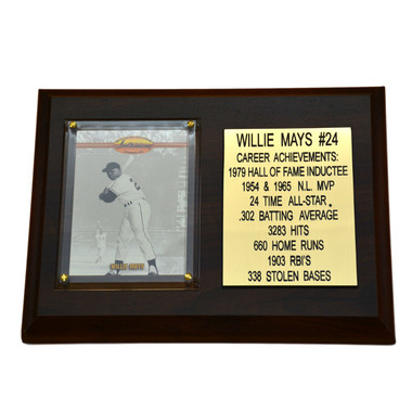 "Willie Mays San Francisco Giants 8"" x 6"" Baseball Card Deluxe Plaque"