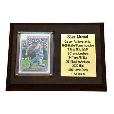 "Stan Musial St. Louis Cardinals 8"" x 6"" Baseball Card Deluxe Plaque"