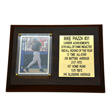 "Mike Piazza New York Mets 8"" x 6"" Baseball Card Deluxe Plaque"