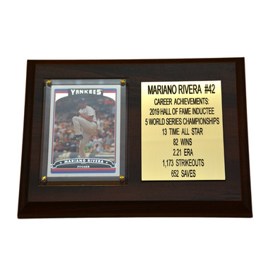 "Mariano Rivera New York Yankees 8"" x 6"" Baseball Card Deluxe Plaque"